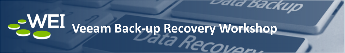 WEI's Veeam Back-up Recovery Workshop hosted at our corporate office in Salem, NH
