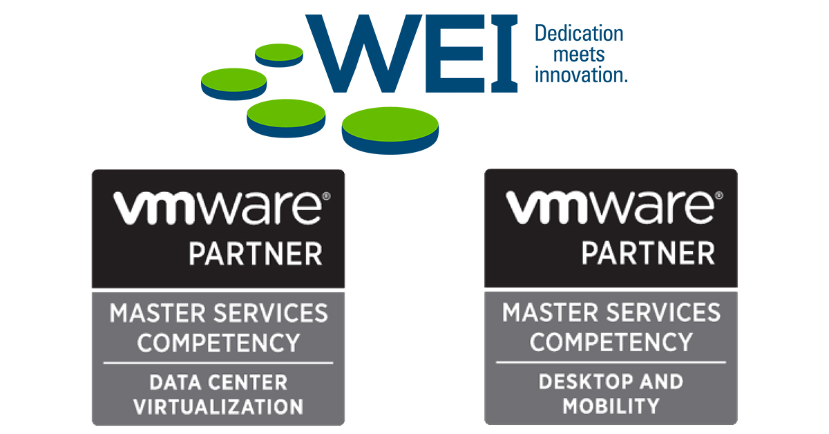WEI Achieves VMware Master Services Competency in Datacenter Virtualization and Desktop and Mobility
