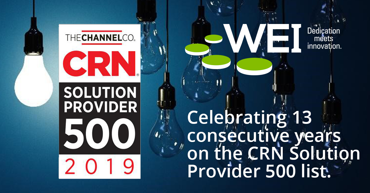 WEI Recognized Again on 2019 CRN Solution Provider 500 List